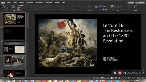 Thumbnail for entry Lecture 16: The Restoration and the 1830 Revolution