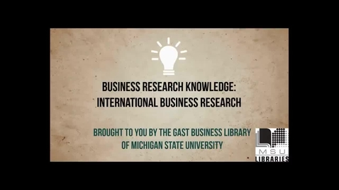 Thumbnail for entry International Business Research