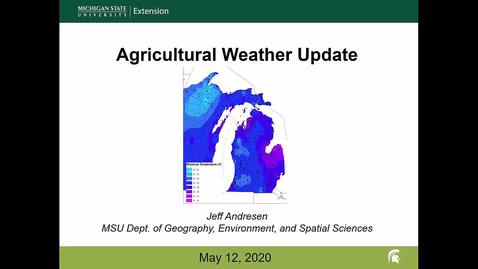 Thumbnail for entry Agricultural weather forecast for May 12, 2020