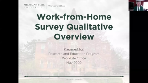 Thumbnail for entry Work-from-Home Survey Qualitative Overview