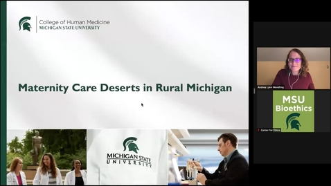 Thumbnail for entry Maternity Care Deserts in Rural Michigan