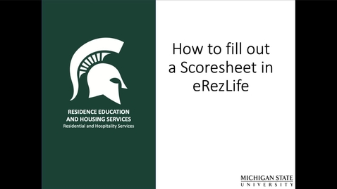 Thumbnail for entry Completing Scoresheets eRezLife