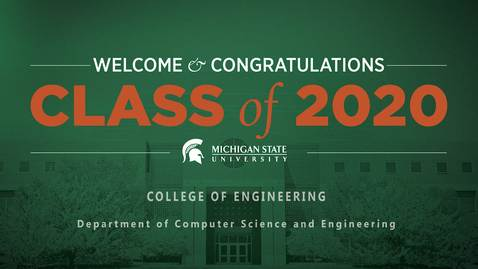 Thumbnail for entry Computer Science and Engineering Graduation 2020