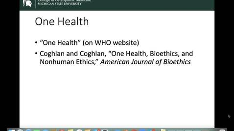 Thumbnail for entry OST 825: Gifford: Week 4: Social Determinants of Health: One Health Intro