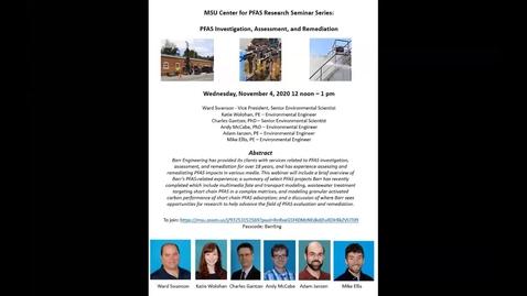Thumbnail for entry MSU Center for PFAS Seminar 11-4-2020