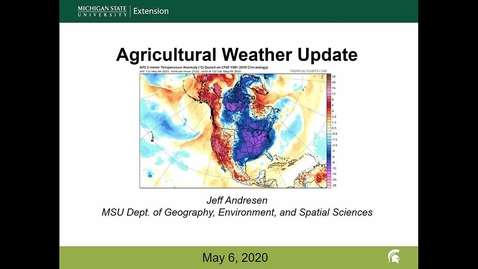 Thumbnail for entry Agricultural weather forecast for May 6, 2020