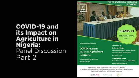 Thumbnail for entry COVID-19 and its Impact on Agriculture in Nigeria Audio Part 2