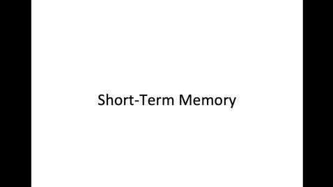 Thumbnail for entry Short Term Memory