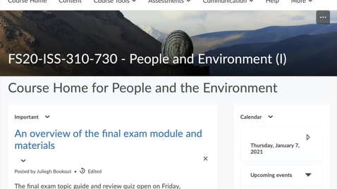 Thumbnail for entry onGEO Courses: Where things are found in D2L