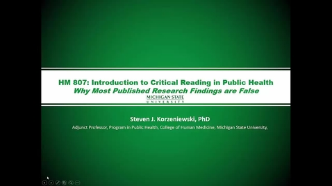 Thumbnail for entry HM807 Mod-4-Lecture-4why-most-pub-research-is-wrong-ppt-with-audio