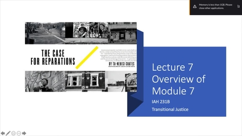 Thumbnail for entry Lecture 7 - Part 1