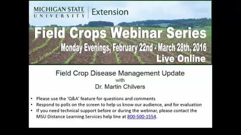 Thumbnail for entry Disease Management Update 2016