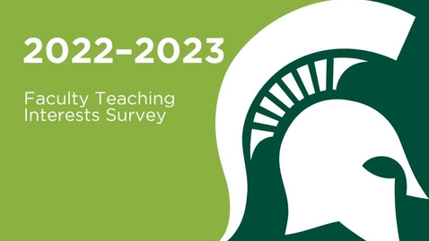 Thumbnail for entry WRAC 2022-2023 Faculty Teaching Interests Form Overview