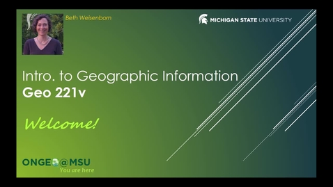 Thumbnail for entry GEO 221v: Course Introduction