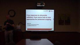Crop responses to ultraviolet radiation