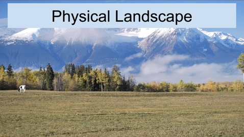 Thumbnail for entry GEO330: New England: Physical Setting