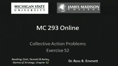 Thumbnail for entry Collective Action Problems, Exercise S2