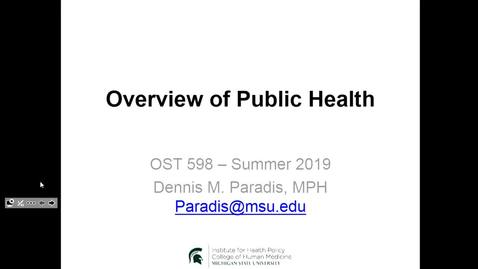 Thumbnail for entry OST598 Public Health