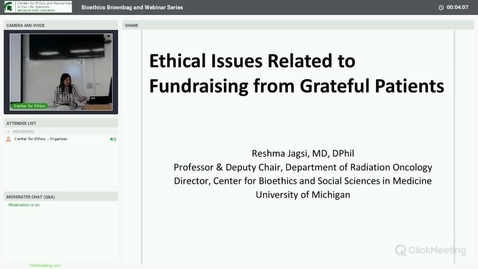 Thumbnail for entry Ethical Issues Related to Fundraising from Grateful Patients