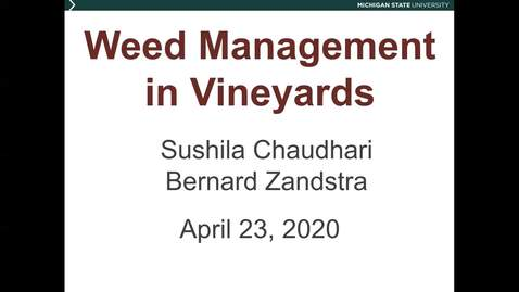 Thumbnail for entry Grape Kickoff 2020 - Weed management in vineyards