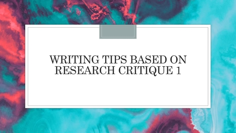 Thumbnail for entry RC1 Writing Tips