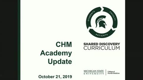 Thumbnail for entry CHM Academy Meeting 10-21-19