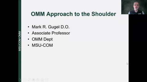 Thumbnail for entry Shoulder Dx and Tx Recorded Lecture