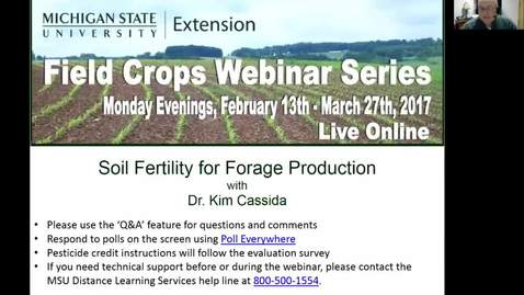Thumbnail for entry Soil Fertility for Forage Production