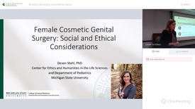 Thumbnail for entry Female Cosmetic Genital Surgery: Social and Ethical Considerations
