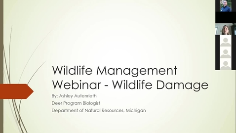 Thumbnail for entry Wildlife Management and Crop Damage Webinar 3-22-19 - Deer Management - MDNR