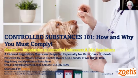 Thumbnail for entry VM 509 Controlled Substances Part 1