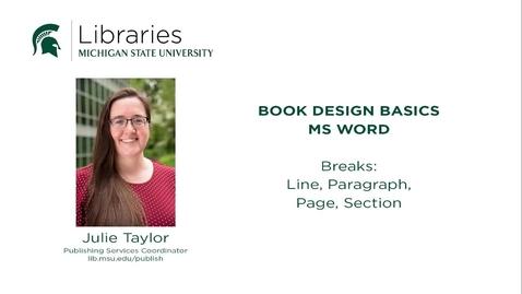 Thumbnail for entry Book Design Tips: Breaks