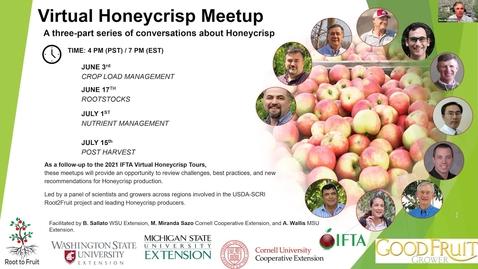 Thumbnail for entry Honeycrisp Virtual Meetup #4 Harvest - Part 1
