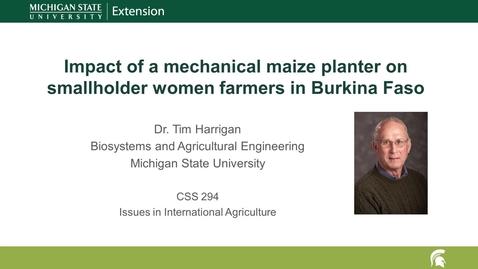 Thumbnail for entry Mechanical planter impact on smallholder women farmers