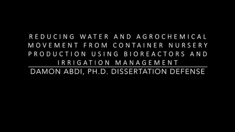 Thumbnail for entry Reducing Water and Agrochemical Movement from Container Nursery Production Using Bioreactors and Irrigation Management