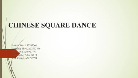Thumbnail for entry ISS330B  - section 3 - Chinese Square Dance