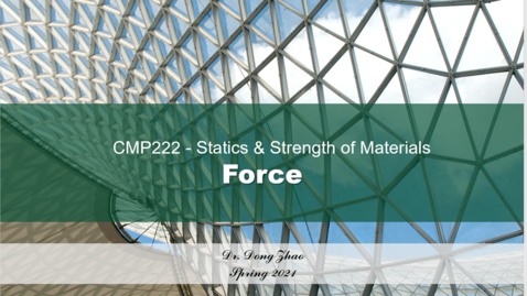 Thumbnail for entry CMP222- Force -E.g. 1