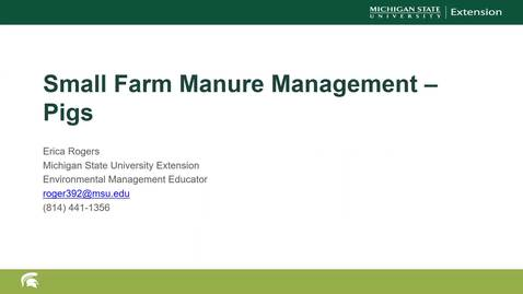Thumbnail for entry Small Farms Manure Management