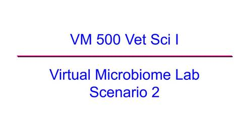 Thumbnail for entry VM 500-Virtual Microbiome Lab 2020 Scenario 2