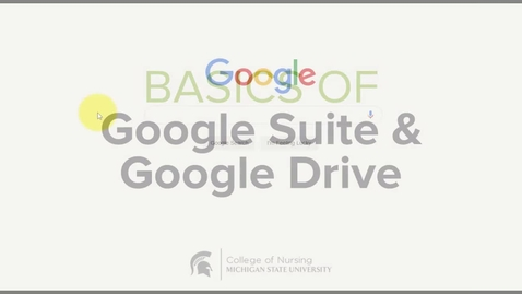Thumbnail for entry CON Basics of Google Suite and Google Drive