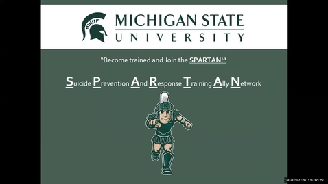 Thumbnail for entry SPARTAN training informational component