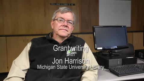 Thumbnail for entry Jon Harrison of the MSU Library on free grant resources online