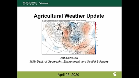 Thumbnail for entry Agricultural weather forecast for April 28, 2020