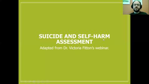 Thumbnail for entry Suicide Assessment