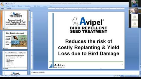 Thumbnail for entry Wildlife Management and Crop Damage Webinar 3-22-19 - Avipel Crane Deterrent Seed Treatment
