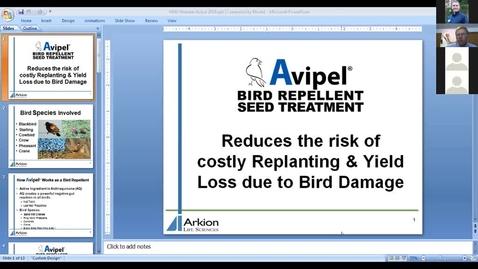 Thumbnail for entry Wildlife Management and Crop Damage Webinar 3-22-19 - Avipel Crane Deterrent Seed Treatment