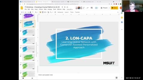Thumbnail for entry Choosing a Course Platform: LON-CAPA