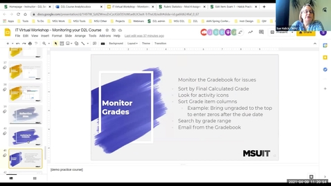 Thumbnail for entry Monitoring Your D2L Course: Monitor the Gradebook