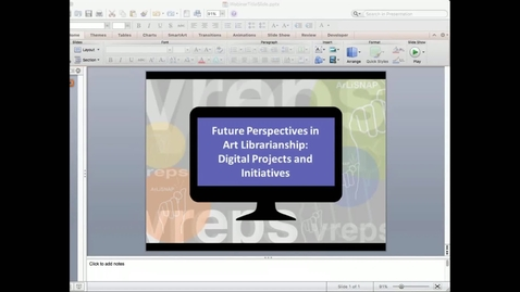 Thumbnail for entry ArLiSNAP VREPS 2016 Virtual Conference Q & A