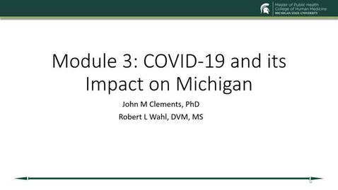 Thumbnail for entry COVID-19 Response and Impacts in Michigan - Clements